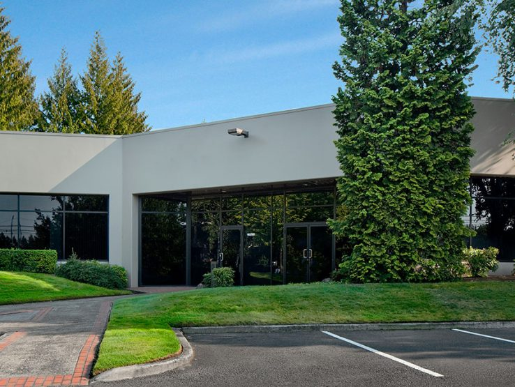 Exterior of building E at PacTrust Business Center located south of Portland right off I-5
